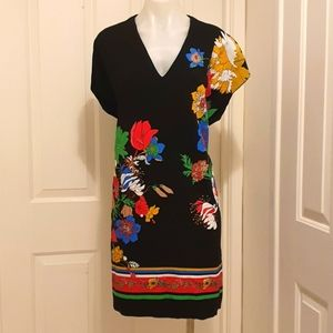 Gorgeous Colourful Zara Collection Dress 97% Polyester 3% Elastane